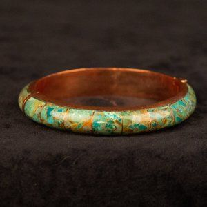 Jay King Signed DTR Turquoise Inlay Bracelet